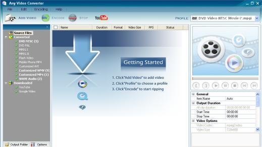 Any Video Converter Freeware 3.2.3 скачать бесплатно