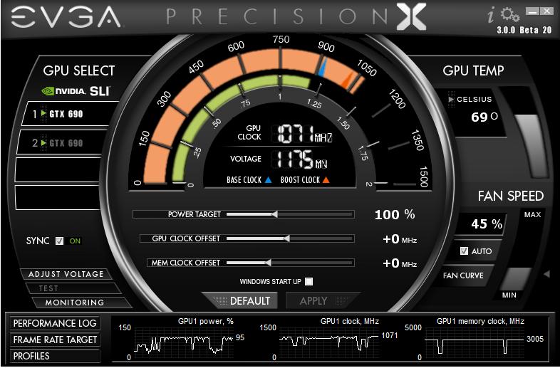 EVGA PrecisionX 5.2.0 скачать бесплатно