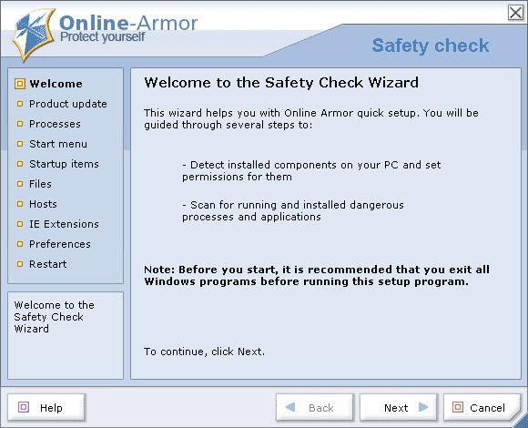 Online Armor Free 4.5.1.431 скачать бесплатно