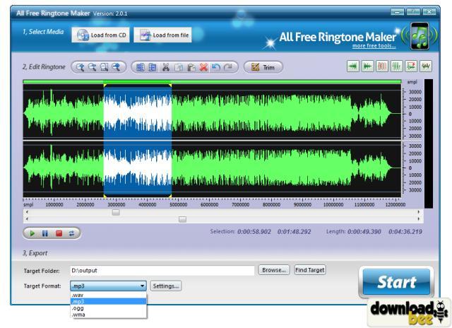 Free Ringtone Maker 2.4.0.2154 скачать бесплатно