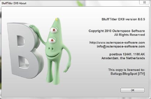BluffTitler DX9 v8.0.5 Portable скачать бесплатно
