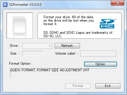 SD Formatter 4.0 for SD/SDHC/SDXC скачать бесплатно