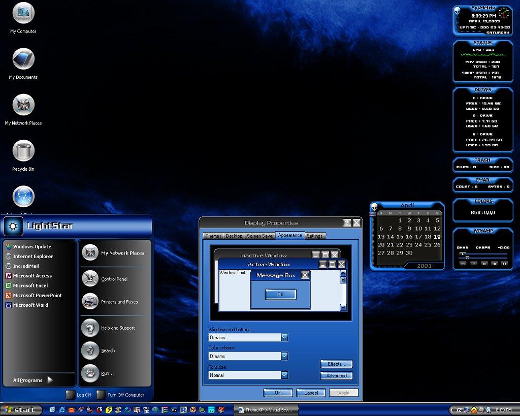Скачать бесплатно 70 тем для WINDOWS XP (2008).