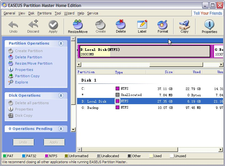 easeus partition master 9.1