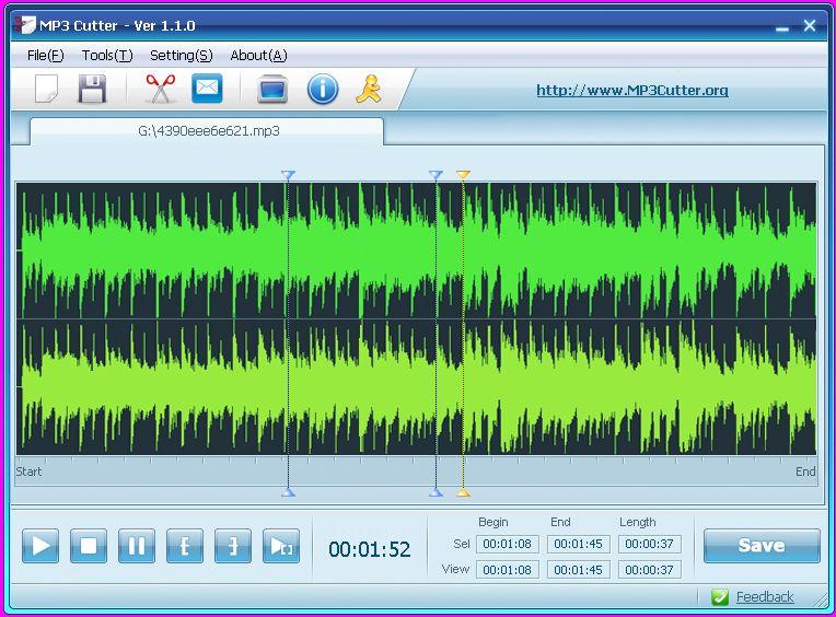 MP3 Cutter 1.1.0 скачать бесплатно