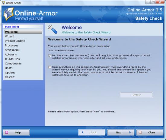 Online Armor Free 4.0.0.44 скачать бесплатно