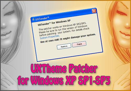 WINDOWS UXTHEME POUR SP3 PATCH TÉLÉCHARGER XP