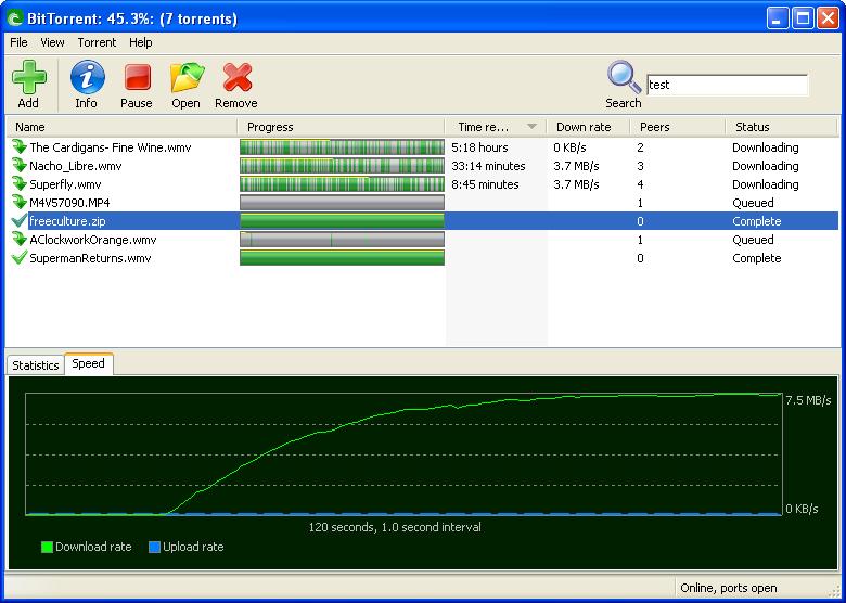 Инструмент для обмена крупными файлами. BitTorrent работает вместе с