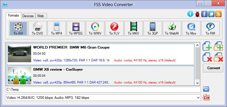 FSS Video Converter 1.0.1.1 скачать бесплатно