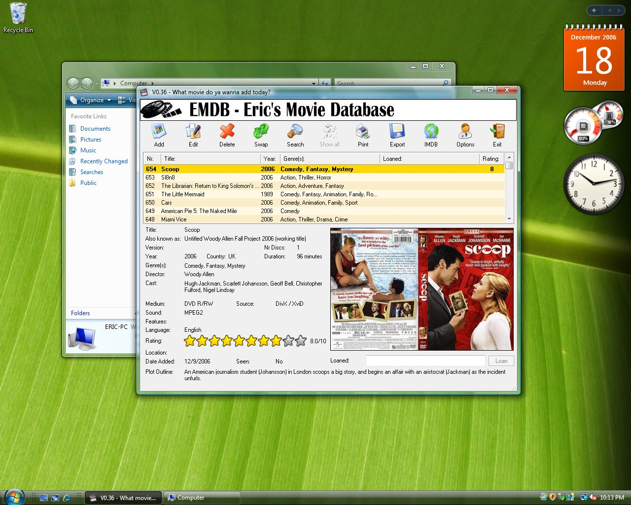 EMDB 0.55 - Программа для ведения каталога DVD-дисков.