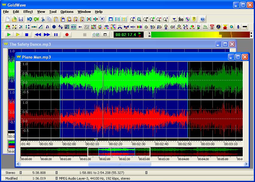 GoldWave - мощный звуковой редактор. Предназначен для редактирования