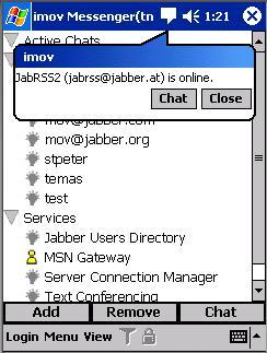 Chat with im+ in msn/windows live, yahoo!, aim/ichat, icq, jabber, google talk, myspace messenger, skype