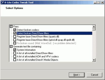 K-Lite Codec Tweak Tool 5.3.0 скачать бесплатно