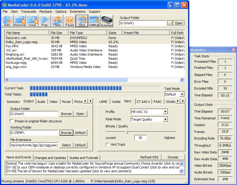 MediaCoder 0.61.4180