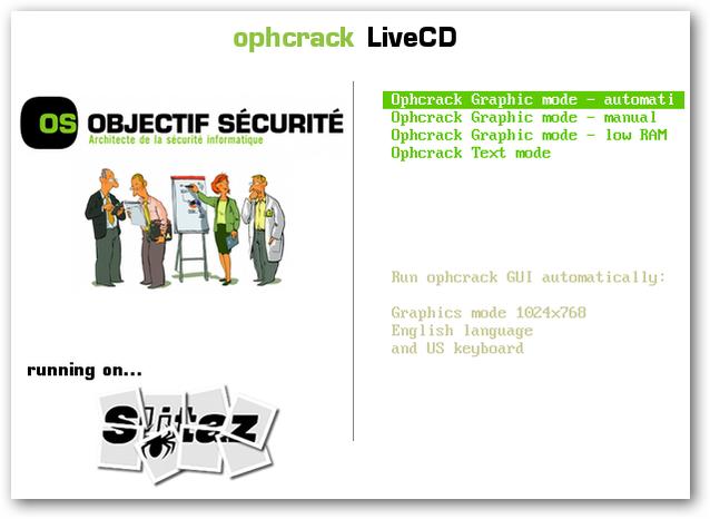 Ophcrack Vista LiveCD - вы думаете - Как взломать пароль Windows 7 или