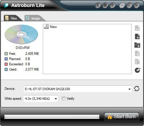 Astroburn Lite 1.6.1 скачать бесплатно