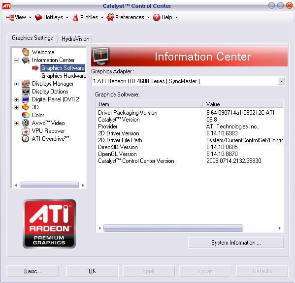 Скачать ATI AMD Catalyst Control Center