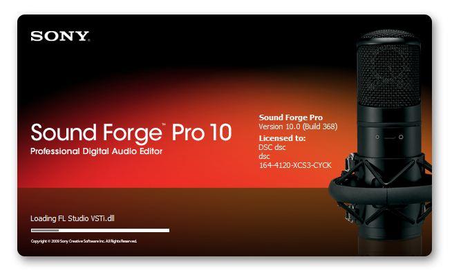 Программу sound forge 10 rus