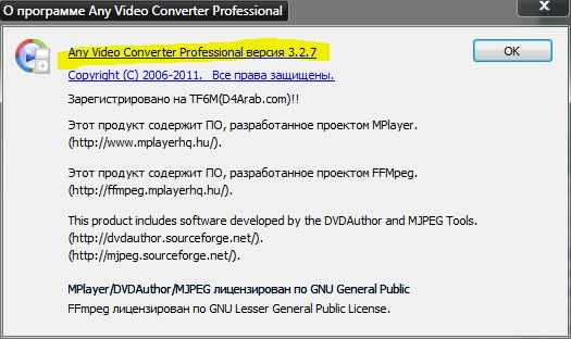 Any Video Converter Professional 3.2.7 RePack скачать бесплатно