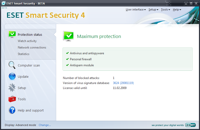 Скачать ESET Smart Security ESET Smart Security 5's core features put