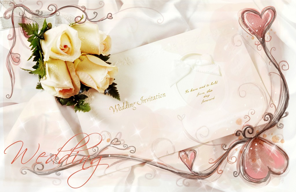 Шаблон открытка с днем свадьбы для фотошопа, скидки анимация
